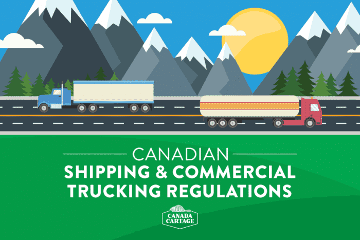 Canadian shipping and commercial trucking regulations