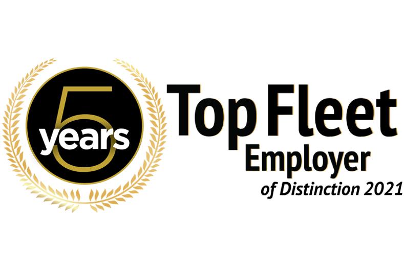 Trucking HR Top Fleet Employer of Distinction 2021